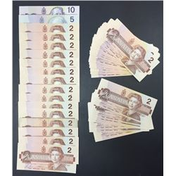 Bank of Canada Bird Series Notes - Lot of 54