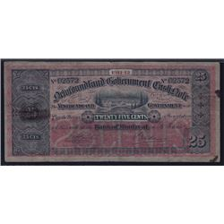 1911-12 Newfoundland Government Cash Note 25¢