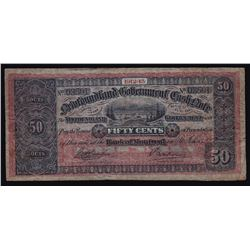 1912-13 Newfoundland Government Cash Note 50¢