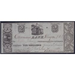 1837 Commercial Bank Ten Shillings