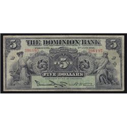1925 Dominion Bank $5