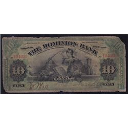 1900 Dominion of Bank $10