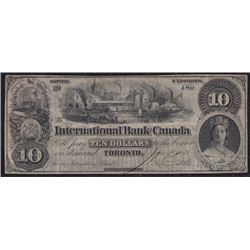 1859 International Bank of Canada $10