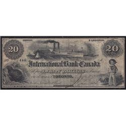 1859 International Bank of Canada $20