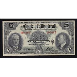 1938 Bank of Montreal $5