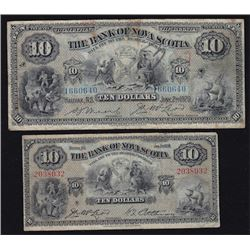 Bank of Nova Scotia $10 - Lot of 2