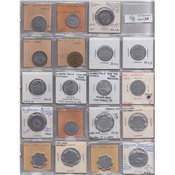 Lot of 38 Ontario Trade Tokens