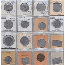 Lot of 16 Northern Ontario Bread Tokens