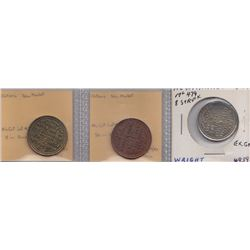 Lot of 3 Newmarket, Ont. Advetising Tokens