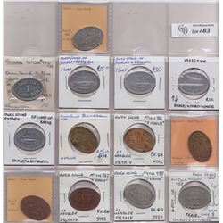 Lot of 13 Owen Sound, Ont. Bread Tokens