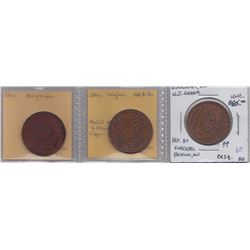 Lot of 3 Wingham, Ont. Trade Tokens