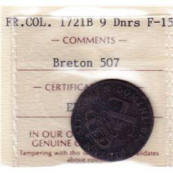 Br 507. 9 Deniers. 1721 B. (Rouen).