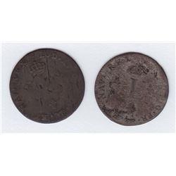 Br 508. Billon Double Sol of 24 Deniers. 1742 A. (Paris).