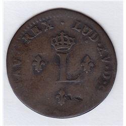 Br 508. Billon Double Sol of 24 Deniers. 1754 A. (Paris).