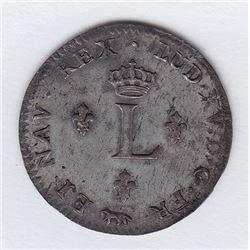 Br 508. Billon Double Sol of 24 Deniers. 1755 A. (Paris).