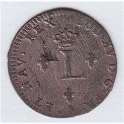 Br 508. Billon Double Sol of 24 Deniers. 1762 A. (Paris).