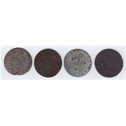 Br 508. Billon Double Sol of 24 Deniers. 1740 E. (Tours).