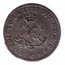 Br 508. Billon Double Sol of 24 Deniers. 1738 G. (Poitiers).