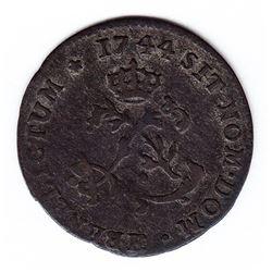 Br 508. Billon Double Sol of 24 Deniers. 1744 H. (La Rochelle).