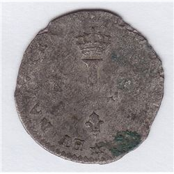 Br 508. Billon Double Sol of 24 Deniers. 1738 M. (Toulouse).