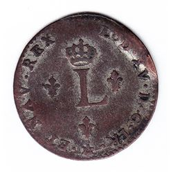 Br 508. Billon Double Sol of 24 Deniers. 1739 M. (Toulouse).