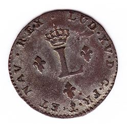 Br 508. Billon Double Sol of 24 Deniers. 1739 P. (Dijon).