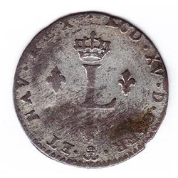 Br 508. Billon Double Sol of 24 Deniers. 1741 P. (Dijon).