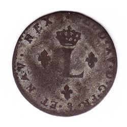 Br 508. Billon Double Sol of 24 Deniers. 1742 P. (Dijon).