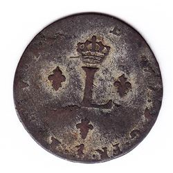 Br 508. Billon Double Sol of 24 Deniers. 1745 W. (Lille).