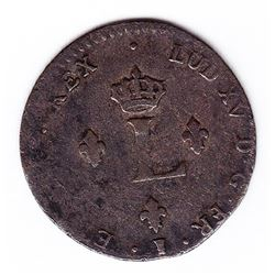 Br 508. Billon Double Sol of 24 Deniers. 1739 9. (Rennes).