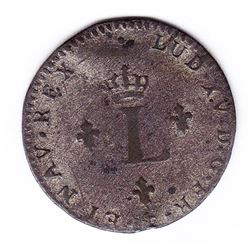 Br 508. Billon Double Sol of 24 Deniers. 1739 &. (Aix).