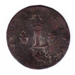 Br 508. Billon Double Sol of 24 Deniers. 1747 AA. (Metz).