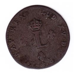 Br 508. Billon Double Sol of 24 Deniers. 1750 AA. (Metz).