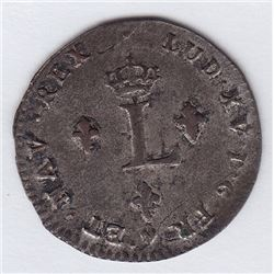 Br 508. Billon Double Sol of 24 Deniers. 1740/39 BB (Strasbourg).