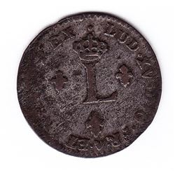 Br 508. Billon Double Sol of 24 Deniers. 1756/46 BB. (Strasbourg).