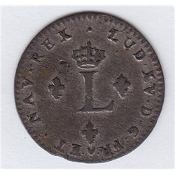 Br 508. Billon Double Sol of 24 Deniers. 1762 BB. (Strasbourg).
