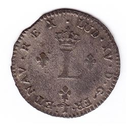 Br 508. Billon Double Sol of 24 Deniers. 1739 adorsed Cs. (Besançon).