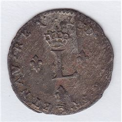 Br 508. Billon Double Sol of 24 Deniers. 1741 adorsed Cs. (Besançon).