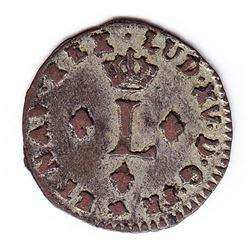 Br 509. Billon Sol of 12 Deniers. 1740 T. (Nantes).
