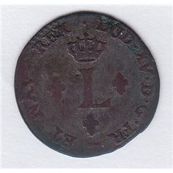 Br 509. Billon Sol of 12 Deniers. 1740 W. (Lille).
