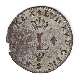 Br 509. Billon Sol of 12 Deniers. 1740 X. (Amiens).