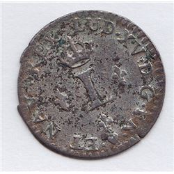 Br 509. Billon Sol of 12 Deniers. 1740 BB. (Strasbourg).