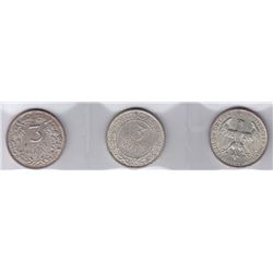 Germany 3 Mark - Lot of 3