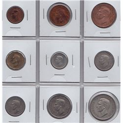 Great Britain - 9 Coin Proof Set, 1950