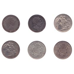 Great Britain Crowns - Lot of 6