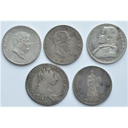 Italy & San Marino - Lot of 5 Crowns