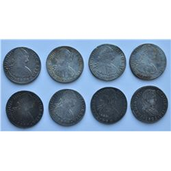Mexico 8 Reales - Lot of 8