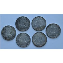 Mexico 8 Reales - Lot of 6
