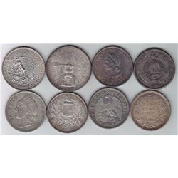 Mexico, Central & South Americas - Lot of 8 Crowns