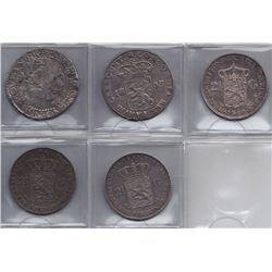 Netherlands Crowns - Lot of 5